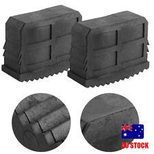 2Pcs Rubber Non-Slip Replacement Part Step Ladder Feet Foot Mat Cushion Black