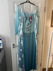 George BNWT Disney Frozen adult Elsa Costume 16-18