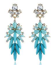 Drop Dangle Stud long Earrings 994 2016 Elegant Green Crystal Rhinestone Ear