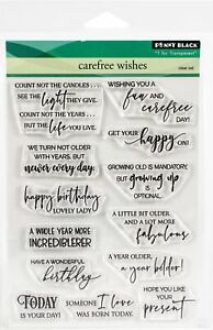 Penny Black Clear Stamps-Carefree Wishes
