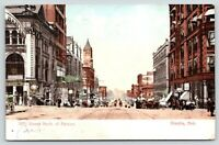 Omaha Nebraska~16th Street North @ Farnam~Peoples Store~1907