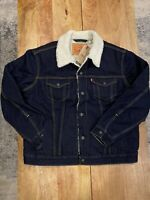 Levi's Type 3 Men Sherpa Trucker Jacket - Dark Wash - Brand New, Free Shipping!