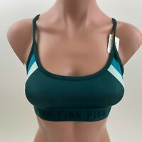 Victoria's Secret PINK Ultimate Lightly Lined Sport Bra  Dark Green  XS  NWT
