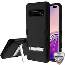Samsung Galaxy S10+ Plus Hybrid Cover Shockproof Protective Rugged Case Black