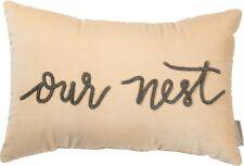 "Velvet Our Nest 19"" Rectangle Throw Pillow Primitives By Kathy Wedding Gift Idea"