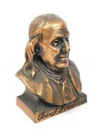 Vintage Ben Franklin Bust Coin Bank Compliments of Your Franklin Representative