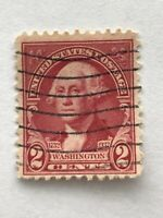 RARE George Washington 2 Cent RED RARE Postage Stamp - Two Cent USPS Stamp