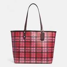 NWT - COACH F22249 Reversible City Tote Oxblood Red Multi Color MSRP $350