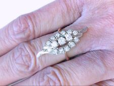 Beautiful Estate Vtg 14K RG Dinner Ring. Approx. .82 TCW. MUST SEE DESIGN!!