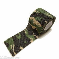 Army Camo Wrap Rifle Shooting Hunting Outdoor Camouflage Stealth Tape 5cm x 4.5m