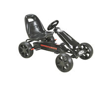 Kids Black Pedal Large EVA Wheel Sports Go Kart Ride On Childrens Cart