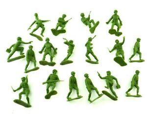Vintage Green Army Men Soldier Military Plastic Figure Troop Infantry Lot