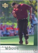 2001 UPPER DECK PGA GOLF TRUE ROOKIE CARD: TIGER WOODS #1 HOT RC MAJOR WINNERS