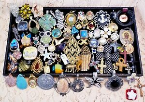 82 Piece Vintage and Modern Charm, Pendant and Jewelry Finding Lot