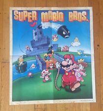 "Vtg 1989 ""NINTENDO CEREAL SYSTEM"" Premium Poster Super Mario Bros. RARE 80's!"