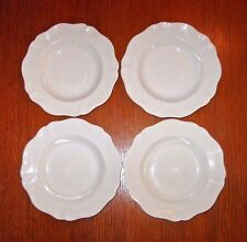 Set of 4 Red Cliff Ironstone Heirloom Soup Salad Pasta Bowls Scalloped Edge