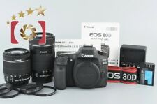Excellent!! Canon EOS 80D 24.2MP Digital SLR Camera + EF-S 18-55mm 55-250mm Lens