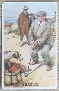 """Vintage Swap / Playing Card  """" A Bad Life """"  Man, Dog Artist Signed near Mint"""