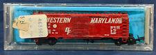 ATLAS 2205 DF WESTERN MARYLAND RED BOX CAR VINTAGE N SCALE. WM 36041