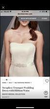 davids bridal wedding dress, size 6, color: ivory