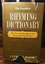 The Complete Rhyming Dictionary Edited By Clement Wood 1936 (HC)- Fair