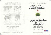 CHRIS PATTON Signed MERION Golf Club SCORECARD 1989 US Amateur CLEMSON PSA/DNA