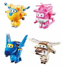 Super Wings Transform-a-Bots 4 Pk Donnie Dizzy Jerome Bello 2inch Scale for Kids