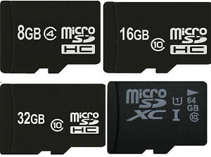 Speicherkarte MicroSD MicroSDHC MicroSDXC 8 GB 16 GB 32 GB 64 128 GB Class 10