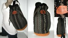 New PENDLETON Southwest Wool & Suede Long Bucket Duffle Cargo Bag