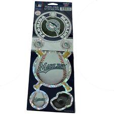 MLB Baseball Florida Marlins Logo Set of 6 Stickers Sheet Kids Child Licensed