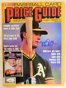 Mark McGwire Oakland Athletics Signed 1988 Price Guide Magazine JSA Authentic