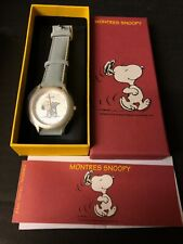 More details for peanuts boxed snoopy reading paper analogue watch sky blue strap opex schultz