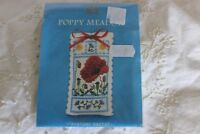 Counted Cross Stitch Embroidery Mini Kit Poppy Meadow Lavender Sachet
