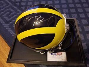 Tom Brady Autographed Signed Michigan proline FS Helmet Bucs Patriots Tristar