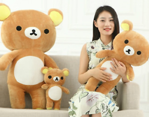 35CM/55CM Plush Stuffed Kawaii San-x Rilakkuma Relax Bear Soft Pillow Toy Doll W
