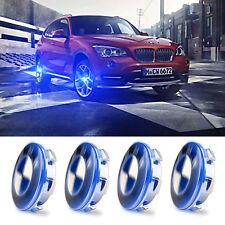 4XBlue Cover Hood Car LED Tire Wheel Center Hub Cap Lamp For BMW F10 E93 E39 E46