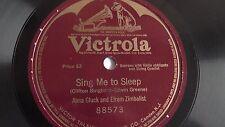 Alma Gluck - 78rpm single 12-inch – Victrola #88573 Sing Me To Sleep