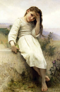 """""""Sweet Little Thief"""" by William Adolphe Bouguereau"""