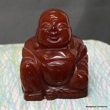 "3"" Gorgeous Veins Carnelian Agate Buddha Statue Reiki Crystal Stand, Crn730"