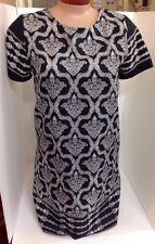 Lolita Jaca Dress Black White Print Cotton Size S