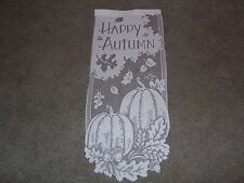 """White Lace Happy Autumn design Wall Hanging 28L""""x12W"""""""