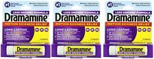 Dramamine Motion Sickness Relief Less Drowsey Formula, 8 Count (Pack of 3)