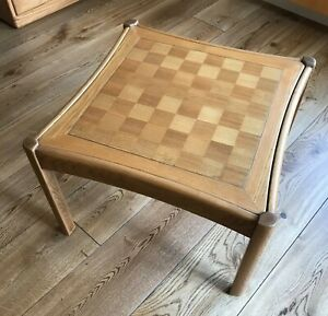 Ercol Chess table with inlaid marquetry board