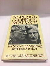 A Great & Glorious Romance Helga Sandberg, SIGNED 1ST EDITION 1978 Free Shipping