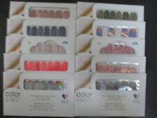 Lot of 10 Sets New & Sealed Color Street Nail Polish Strips Glitter Sets!