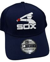 Chicago White Sox New Era 39Thirty Flex Fit Hat S/M Cap NWT MLB Authentic Navy
