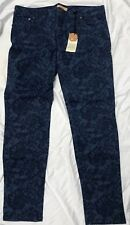 NWT SANCTUARY - Hand Crafted Clothing Pants - Chambray Denim Linen $129 ~ sz 34