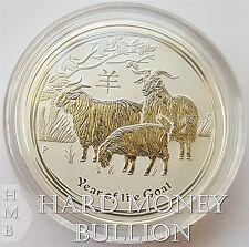 2015 - 1/2 oz (half oz) BU Silver Australian Perth Mint Lunar Year of Goat Coin