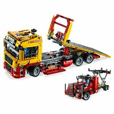Motorised Flatbed Truck 1115 Pcs 2 in 1 Rebuild to Catering Truck Lego Compatibe
