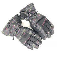 Dakine Snow Ski Glove Girls Youth Size Medium Yukon Jr Black Green Pink & White